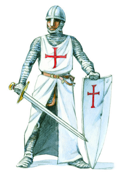 English KNIGHT WITH ARMOUR-ILLUSTRATION
