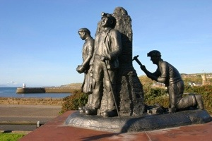 Monument to Whitehaven miners