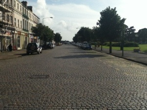 Cobbled stone streets of Silloth