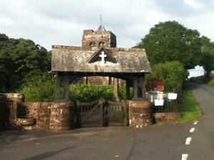 Front gates to Arlecdon Church