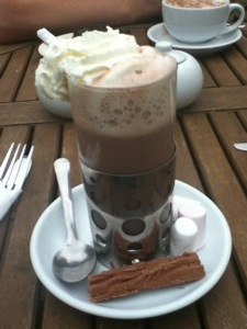A hot chocolate in Cockermouth