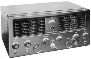 70's style shortwave radio receiver