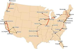 High Speed Rail Map USA