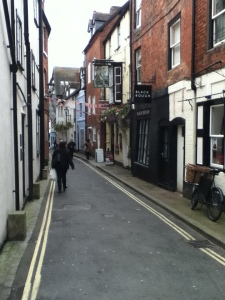 Back street lane in Ludlow