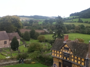 View from the top of Stokesay Castle