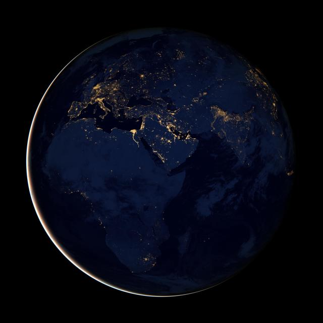 EMEA at night from Space