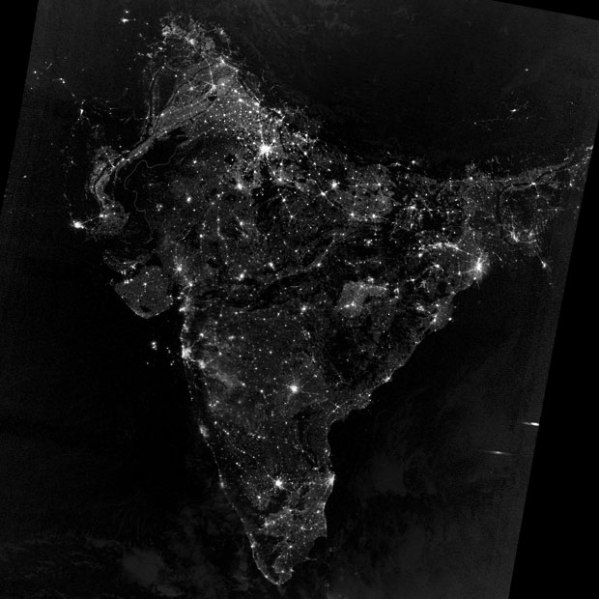 India at night from Space