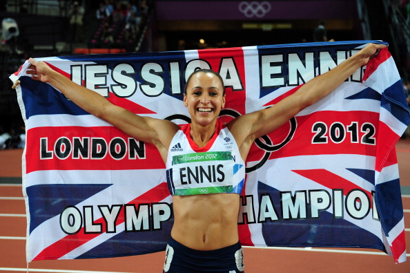 Happy Jessica Ennis