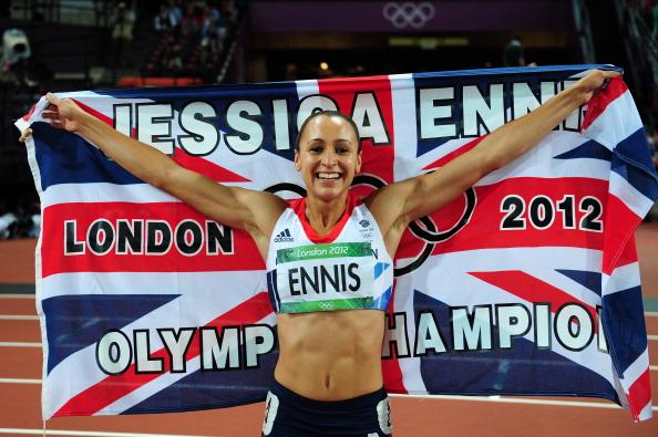 Happy Jessica Ennis