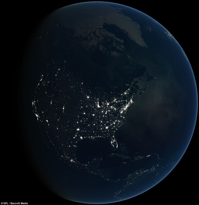 The USA at night