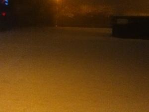 The work carpark at Stokenchurch at 6.55am this morning