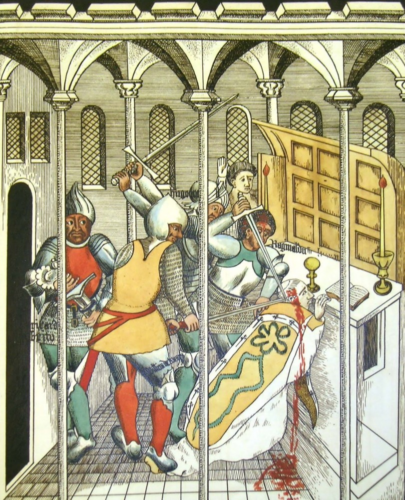 Canterbury Cathedral:- The murder and martyrdom of Thomas Becket (2/4)