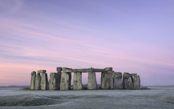 Frosty mid winter Stonehenge