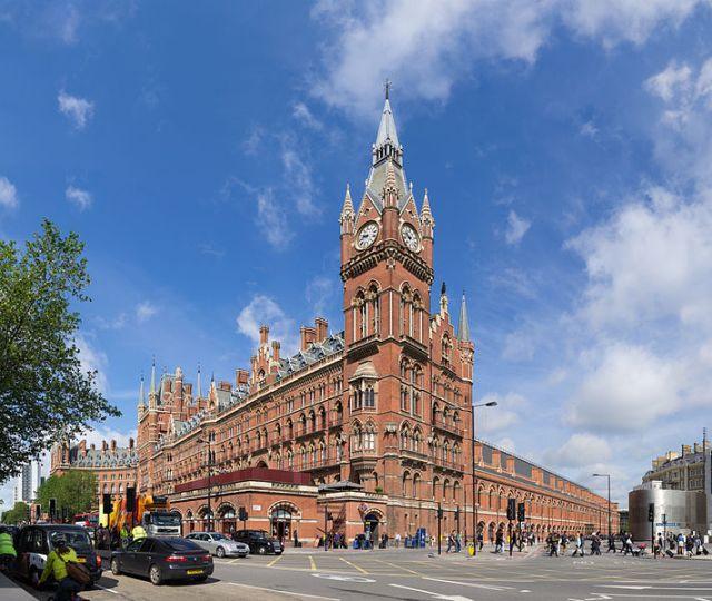 St Pancras Railway Station Exterior