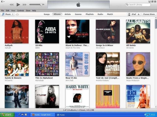 iTunes albums
