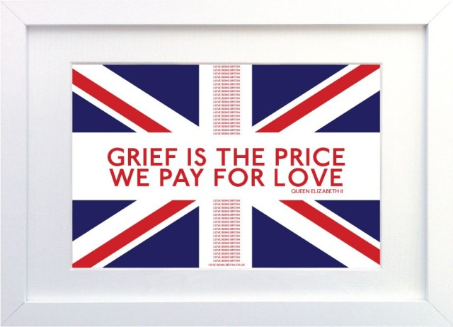 Grief is the price pay for love
