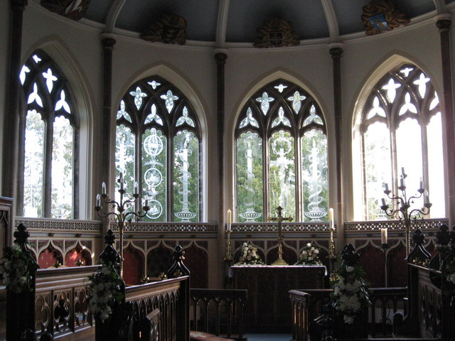 Engraved windows in St Nicholas Church