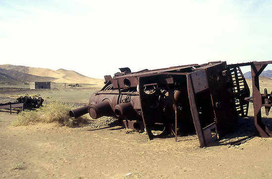 Remains of a train
