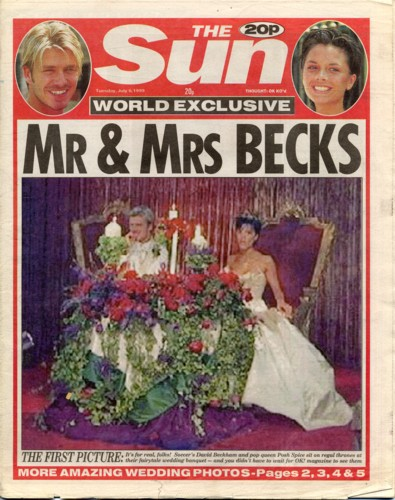 Posh and Becks Wedding