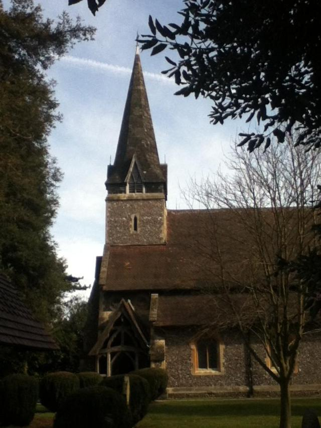 All Saints Church In Leavesden where we were fortunate to meet the kind and helpful Assistant Priest, Martin Brown.