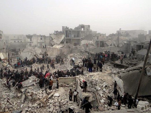 Bombed homes