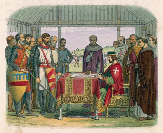 The Magna Carta signing