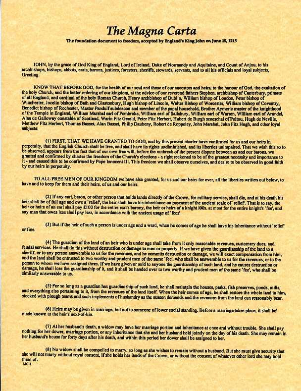 Magna Carta text