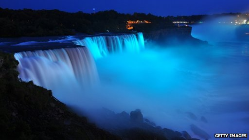 Blue Niagra Falls