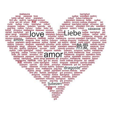 The Word Love In Different Languages List