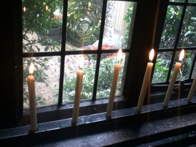 A candle to remember the departed