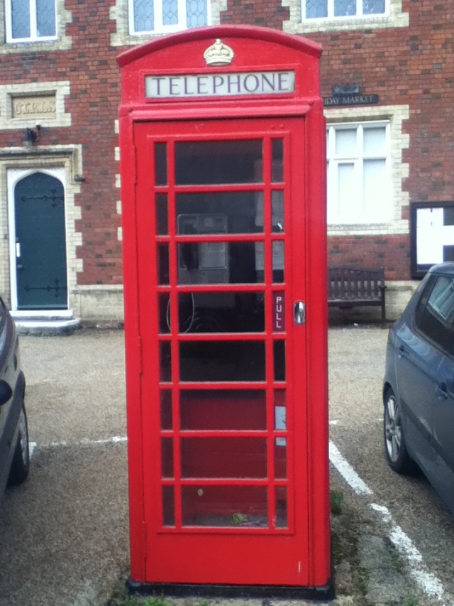 Red village telephone box
