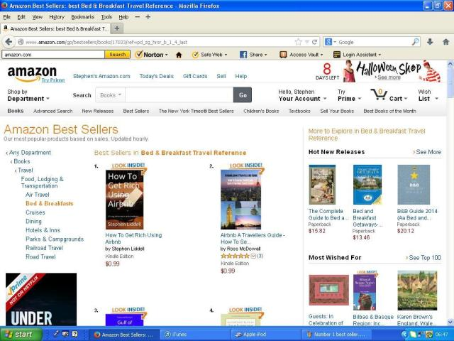 Number 1 best seller Bed and breakfast Travel Reference