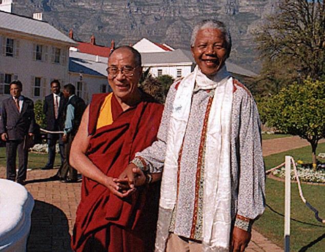 Mandela and Dalai Lama 1996 Cape Town