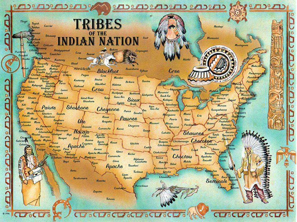 indian tribes american map Native
