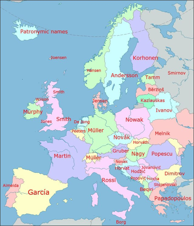 Common European Surnames
