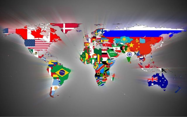 World Map in Flags