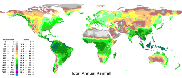 World Rainfall Map