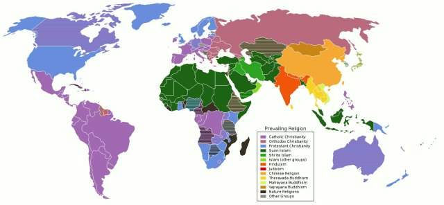 World Religions Map