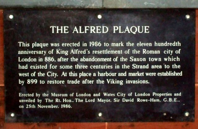 Alfred The Great Plaque