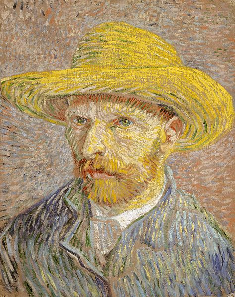 Van Gogh Portrait with Straw Hat