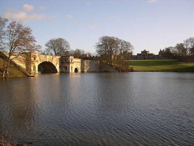 The Grand Bridge over the lake at Blenheim Palace