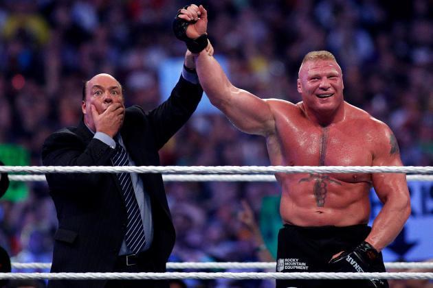 Brock Lesnar wins!