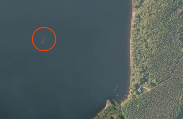 Apple Maps Nessie with scale