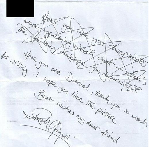 Rik Mayall Fan Mail