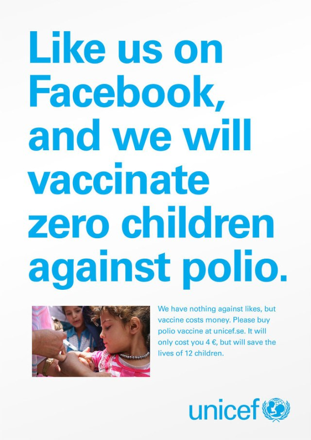 Unicef-Likes dont save lives