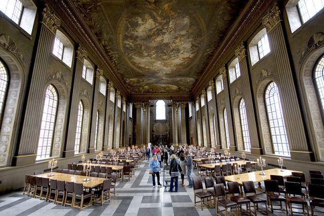 The Painted Hall at the Royal Naval Academy