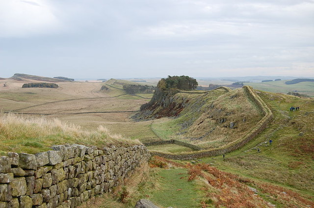 Hadrians Wall sometimes known as The Roman Wall