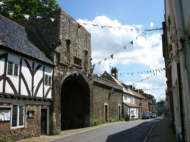 The picturesque main street of Walsingham