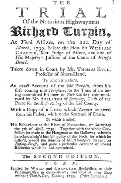 Dick Turpin Trial