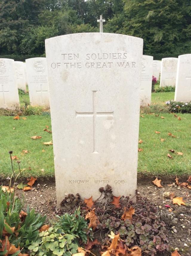 Ten soldiers of The Great War